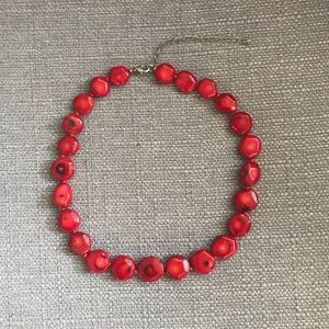 NWOT Semi-precious Red Stone Necklace